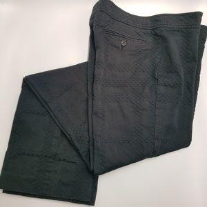 Burberry London Black Textured Straight Leg Pants